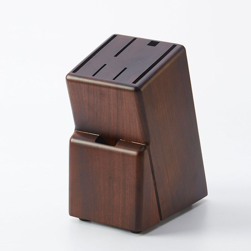 Large Floor Natural Rubber Wood Knife Block Scissors Sharpener Utensil Accessories Stand Holder Kitchen Supplies Organizer