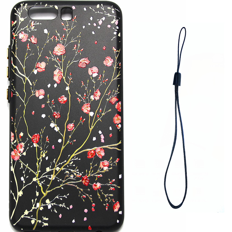 3D Relief flower silicone  case huawei p10 (7)