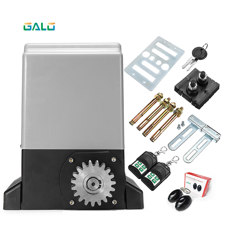 Low Price 220VAC Garage Gear Drive Automatic Sliding Gate Opener /sliding Gate Motor 800kg 1000kg 1500kg Optional