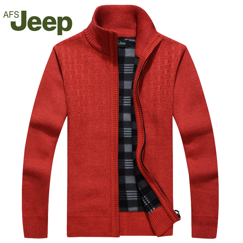 Afs JEEP New arrival Autumn Men s Sweaters Warm Winter Pullover Men s Warm Sweaters Casual