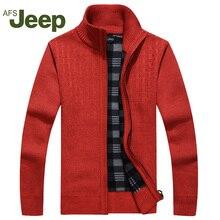 Afs jeep neue ankunft herbst herren-pullover warme winter pullover männer warme pullover lässige strickwaren fleece samt kleidung 60