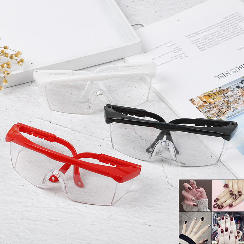 1Pc Anti UV Glasses For UV Gel Nail Art Black/White Big Frame Manicure Tool Random Color
