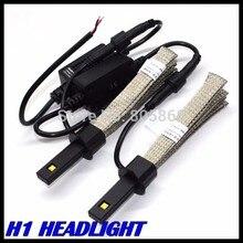 Новое Изобретение Автомобиля H1 H3 Фар 40 Вт 5000LM СВЕТОДИОДНЫЕ Фары H1 светодиодные фары Автомобиля лампа 12 В 24 В авто парковка свет H1