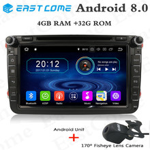 HD 8Octa Core 8 Android 8.0 Car DVD For VolkswagenPolo Caddy Amarok Beetle Tiguan Golf 4 5 With Radio Bluetooth 4G WiFi