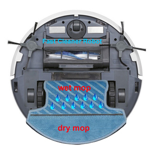 Image 5 - WiFi Smartphone App Control  Wet And Dry Mop Smart Vacuum Cleaner Robot QQ6 With Water Tank,3350MAH Lithium battery