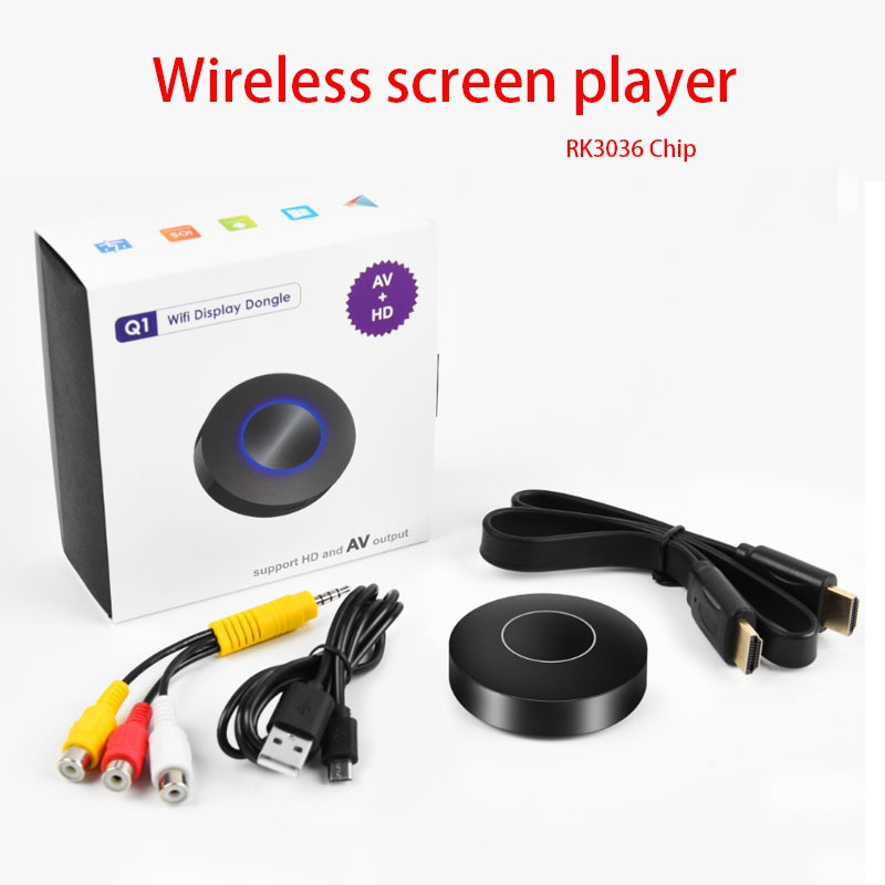 1080P Wireless Screen Player WiFi Display TV Dongle Receiver HD TV Stick Airplay Media Streamer Adapter Media for Android TV