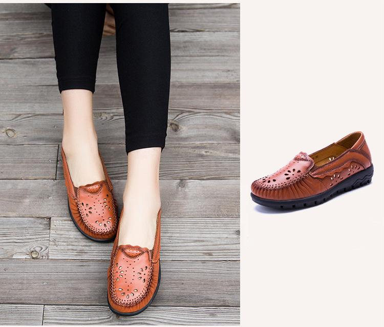 Echtes Handgemachte Schuh Frau 22