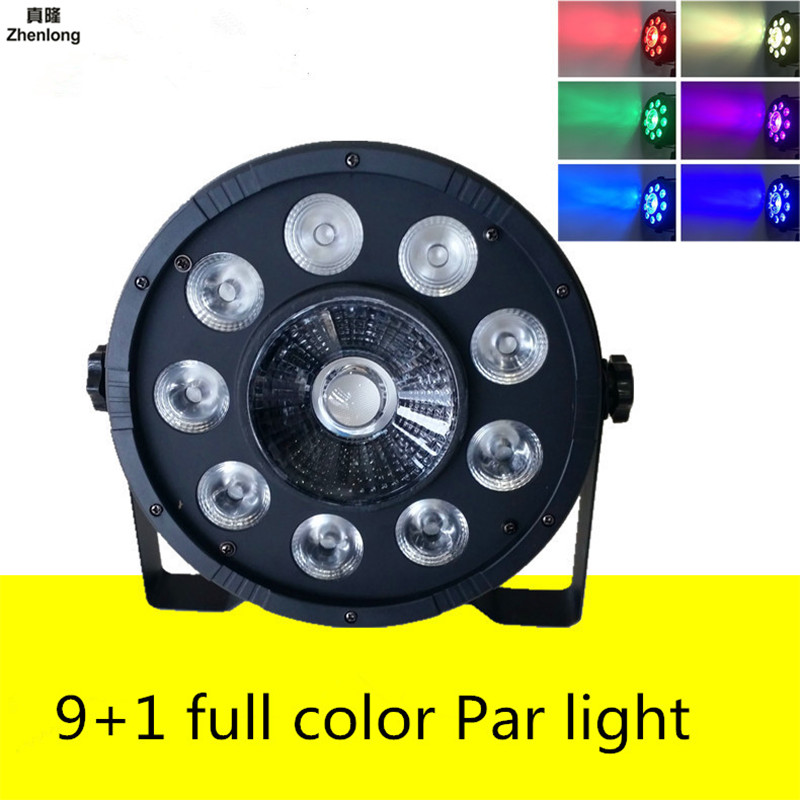LED 9+1 Full Color Par Light RGB 3 In 1 Sound Control Light Bar Wedding DMX512 Stage Lights for Discos KVT Nightclubs Effect Led 10w 3 series 3 in parallel integrated 9 led rgb light source module silver