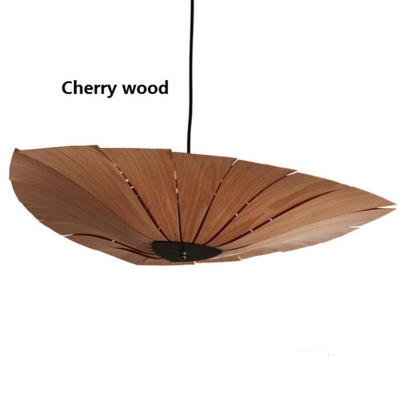Chinese Style Wooden Pendant Lamps Christmas Decorations For Home Veneer Dining Room lampara vintage Industrial Lights Fixtures dia 56cm creative wooden chinese style dining room chandeliers black or natural bamboo japanese southeast asia pendant lamps