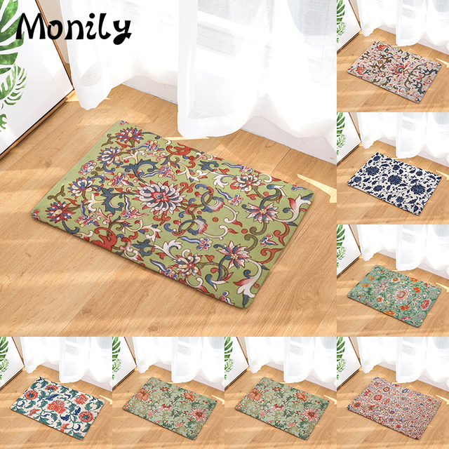 Monily Boho Anti Slip Waterproof Floor Mat Hippe Flower Kitchen Rugs  Bedroom Carpets Decorative Stair