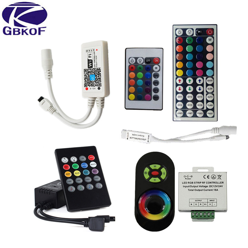 GBKOF RGB LED Controller Wifi Switch Wireless Touch Remote Controllers IR RF 24 44Key DC12V For RGB LED Strip Lighting 3528 5050