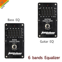 AROMA 5 Bands Guitar EQ Effects Pedal Equalizer Stompbox Adjust Low Mid High Frequency True Bypass