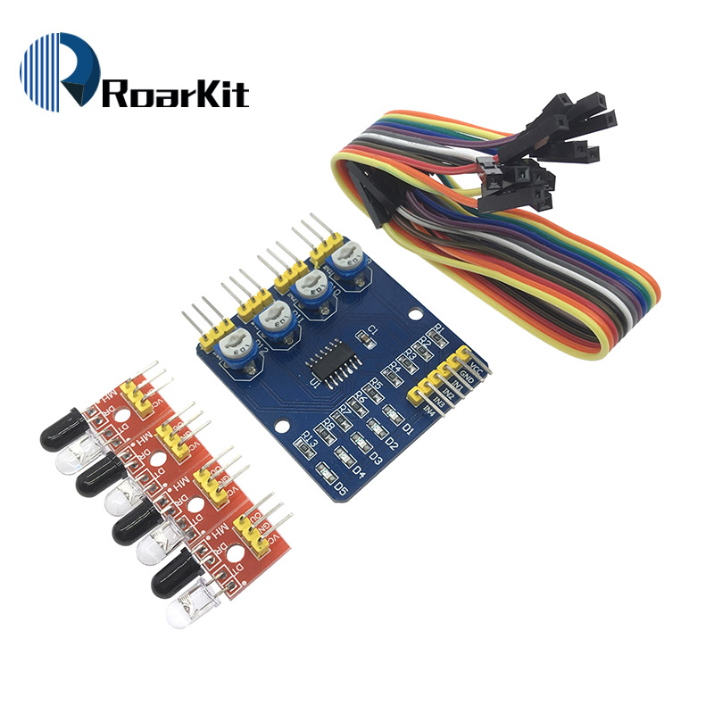 Gentle 1pcs 4 Channel Infrared Detector Tracing Transmission Line Obstacle Avoidance Sensor Module For Arduino Diy Smart Car Robot Always Buy Good Electronic Components & Supplies