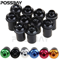POSSBAY 10X 5MM Universal Windscreen Bolts Screws Windshield Screw Kit For Honda Yamaha Kawasaki Suzuki Ducati Cafe Racer Nuts