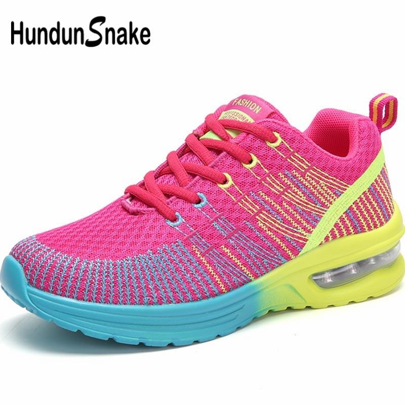 Hundunsnake Breathable Women Running Shoes Women Sneakers Woman Sports Shoes Sport Summer Shoes Tennis Woman Red Training B-047