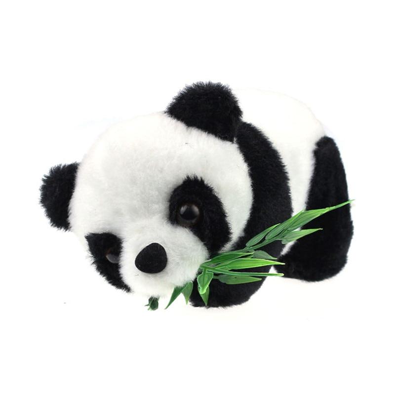 Plush Toy Panda With Bamboo Leaf Stuffed Soft Animal Doll Kawaii Mini Panda Toys Cartoon Gift for Kids 16cm new kawaii 30cm aph emoji cartoon plush toy axis powers hetalia peluche doll for kids gift cute stuffed toys home sofa pillow