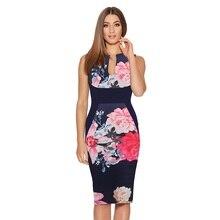 Elegant Floral Print Sexy Patchwork Sheath Dress