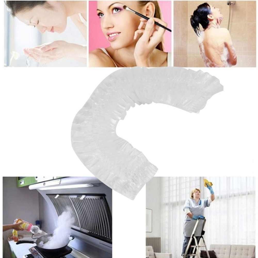 20 pcs/Lot Salon de coiffure jetable clair Spa maison douche bain élastique Transparent casquette livraison directe/détail/gros