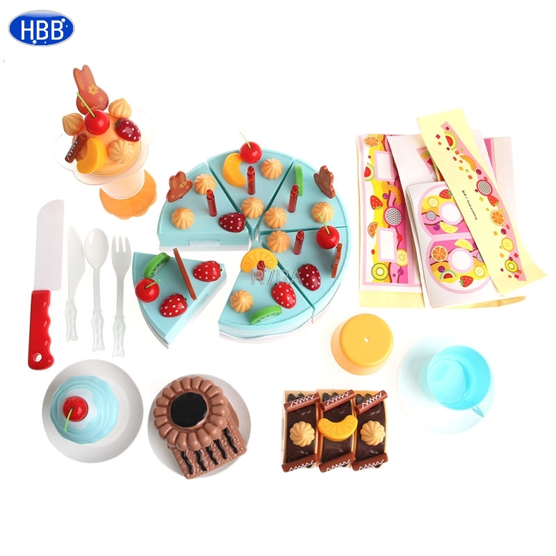 Collection Here Plastic Kitchen Diy Cutting Birthday Cakes Toy For Children Kids 75pcs/set-twfi The Latest Fashion Pretend Play Kitchen Toys