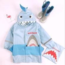 Waterproof Raincoat Poncho Jacket Baby-Girls Boys Kids Children for Primary-School-Students