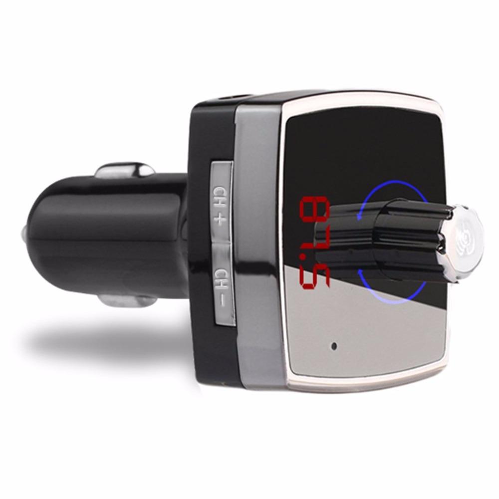 Bluetooth 4.2 Car Kit MP3 Player Wireless FM Transmitter Dual USB 3.1A Hands-free Aux-in Audio easily connects your smartphone