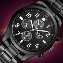 Bosck Watches Men Quartz Sports Watch Diver Luxury Brand Stainless Steel Luminous Business Male Wrist Watches Relogio Masculino