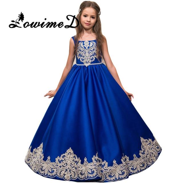 Vestidos de noche para ninas azul