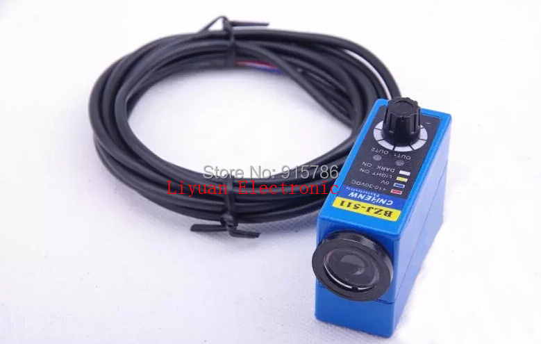 Color Mark Sensor with Supply Voltage 10 30VDC and 2M cable color sensor BZJ 511 Color