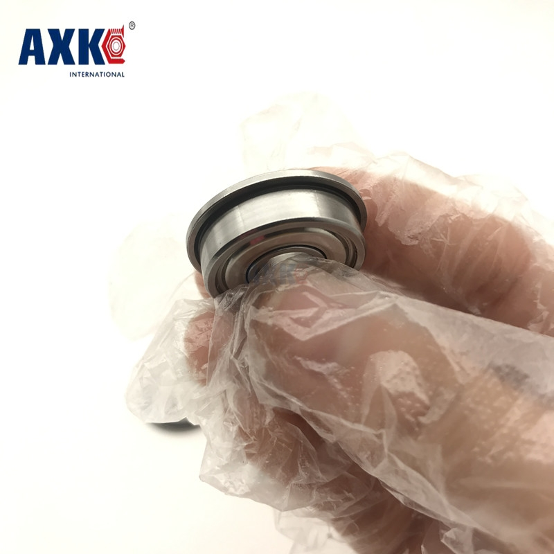 2019 Real Hot Sale Steel Axk 100pcs Free Shipping Flange Bushing Ball Bearings <font><b>F608zz</b></font> 8*22*7 Mm Bearing Deep Groove Radial image