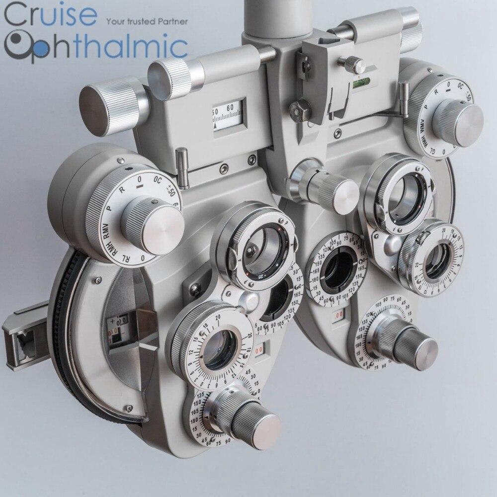 Nouveau Phoropter tête Top vendeur | moins cylindre usinage des pièces métalliques Phoroptor | RM testeur de Vision optométrique | réfracteur