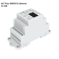 DMX Dimmer DIN rail AC100 240V 288W 2 Channel Triac , Dual channel output Silicon DMX 512 controller S1 DR