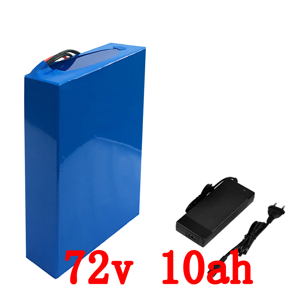 72V battery pack 10AH 72V 1500W li-ion battery 26650 battery with charger 72V battery for e-bike Free shipping free customs taxes high quality skyy 48 volt li ion battery pack with charger and bms for 48v 15ah lithium battery pack