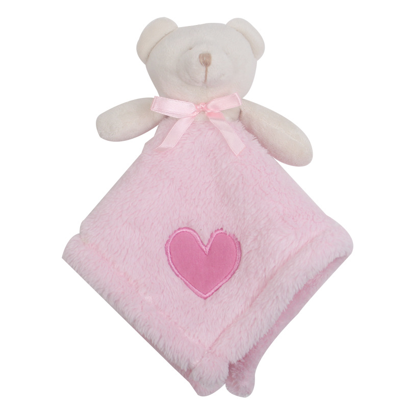 """Plush Soft 12/"""" Teddy Bear And Cot Blanket Great Gift Set Baby Gift Set Ideas"""
