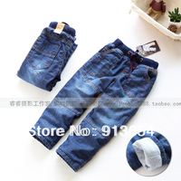 Free shipping new 2014 autumn winter pants kids clothes boys pants baby jeans child casual warm Denim pants