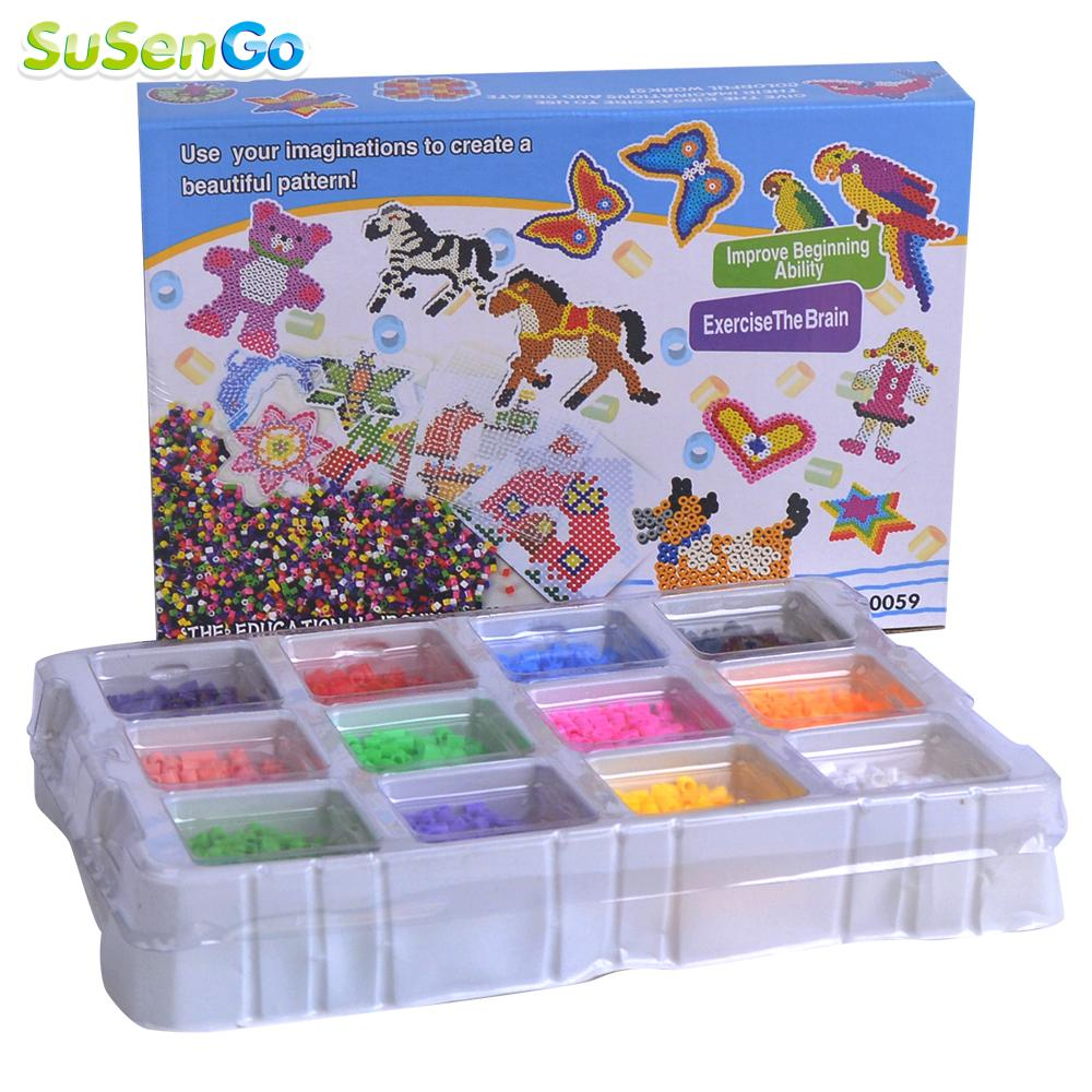 online buy whole fuse box gifts from fuse box gifts 4000pcs fuse beads perler 5mm educational box set kids diy toys fuse bead plussize children kids