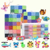 6000 pçs diy contas mágicas moldes animais mão fazer 3d puzzle crianças grânulos educativos brinquedos para crianças feitiço reabastecimento