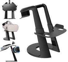 Vr Stand, Virtual Reality Headset Display Holder For All Vr Glasses - Htc Vive, Sony Psvr, Oculus Rift, Oculus Go, Google Dayd vr display station holder storage stand for oculus rift headset controller vr virtual reality system
