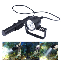 IPX88 DIV10 LED Diving Light XM L2 3000lm LED Scuba Diving Torch Flashlight Underwater 200M Lamp+26650 battery+charger