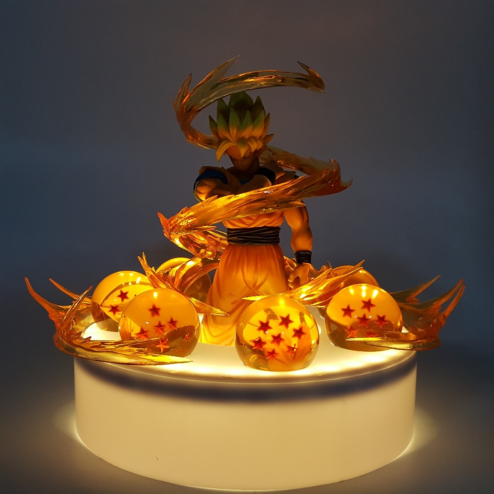 Dragon Ball Son Goku Sfere di Cristallo Led Luci notturne lampada Lampadina Dragon Ball Z GOKU Effetto Lamparas Led Nightlight