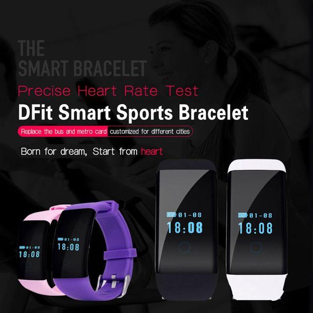 Zeblaze DFit D21 Pulseometer Smartband Impermeable Natación Banda Inteligente Pulsera Salud Ejercicio Tracker para Android y iOS K18