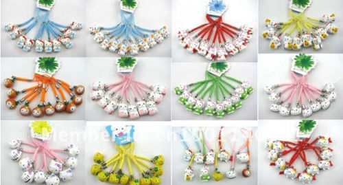 Wholesale 100 Pcs New Bell Cell Phone key Charm cell Phone Strap