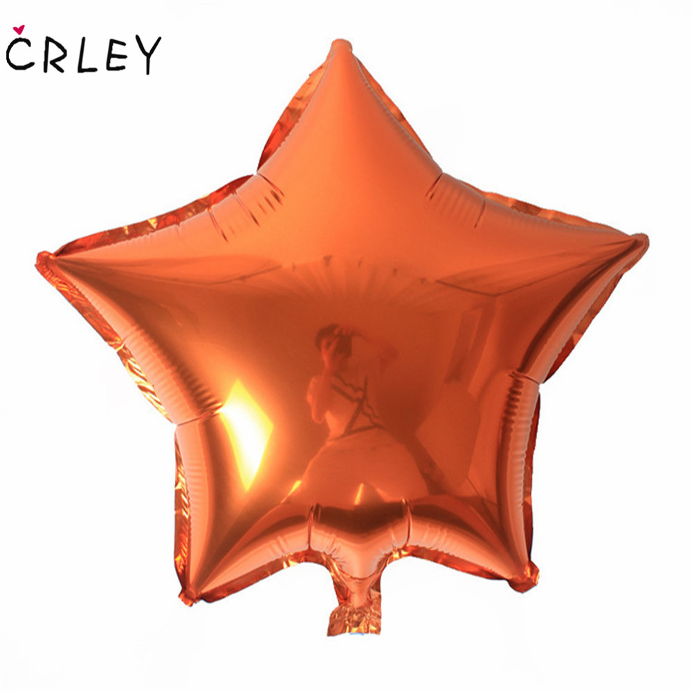 CRLEY 2018 Hot Sale 2pcs Halloween Ballons Five-pointed Star Helium Metallic Love Marria ...