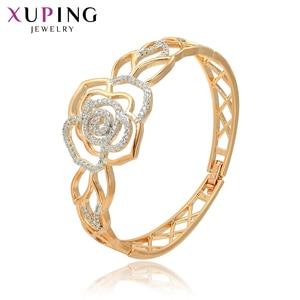 Xuping/модные вечерние браслеты в форме цветка для женщин, ювелирные изделия на День святого Валентина, подарки S104-52162