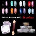 2g MIRROR POWDER NAILS Holographic Nail Powder Chrome Nail Polish Nail Art Glitter Reflecting Pigment Gittters Paillettes Ongles