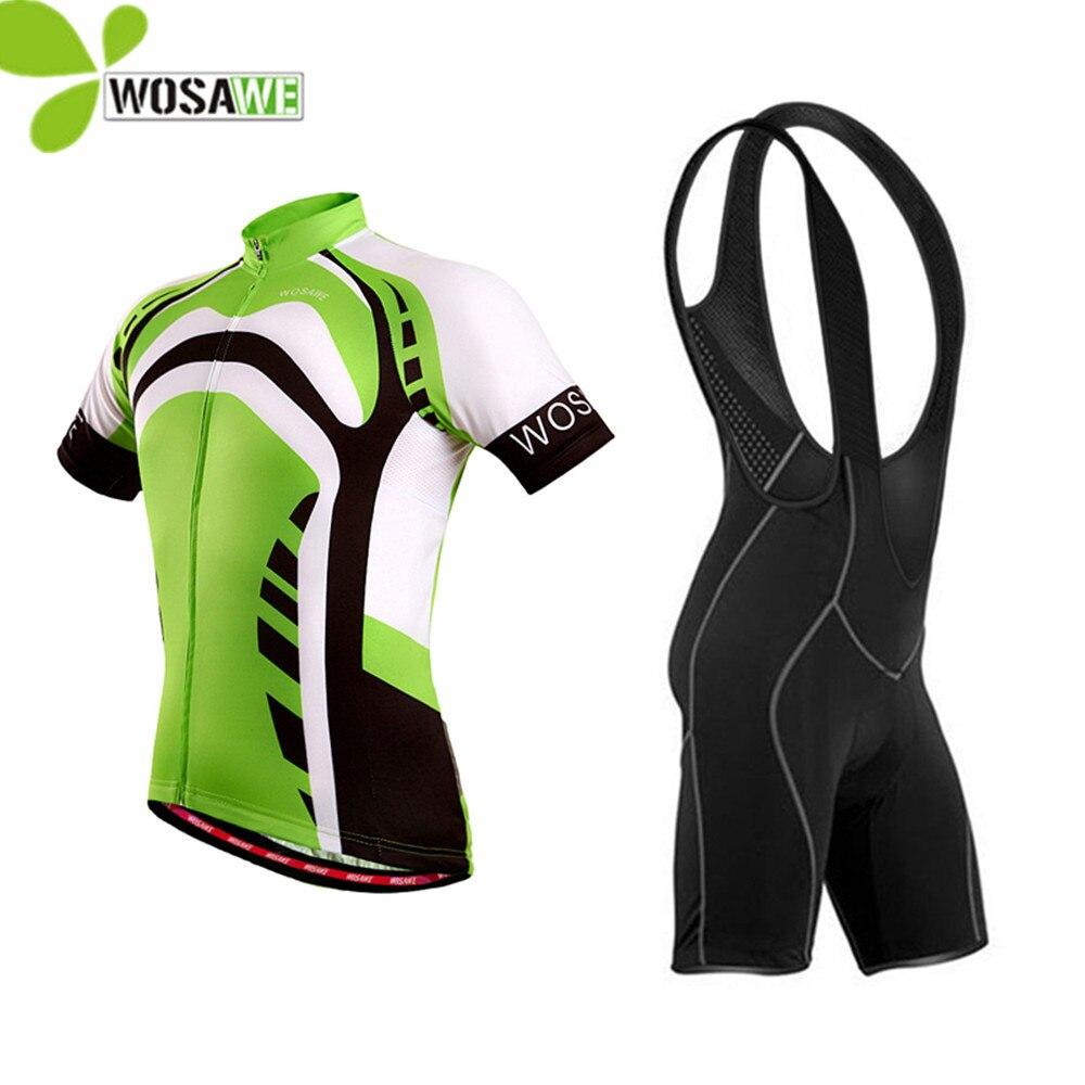 Wosawe Велоспорт-Джерси мужчины велосипед Майо ciclismo велосипедов одежда велосипед одежда MTB рубашка гель мягкий шорты Велоспорт одежда