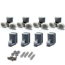 Набор из 4 роликов для душевой двери/4 полозья/Крючки/направляющие колеса диаметром 23 мм 902A, Модель: 106, аксессуары для душа(8 шт