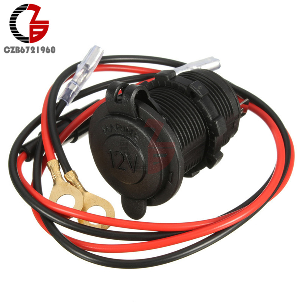 12V to <font><b>24V</b></font> Waterproof Cover Plug Jack Motor Car Lighter Duct Power With 60cm Cable Wire <font><b>Connector</b></font> 10A Protection Fuse image