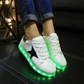 Мужская Освещенные Обувь Для Взрослых 2016 Световой Zapatillas Де Luces Дышащая Светящиеся Usb Дешевые Повседневная Ночь Обувь Китай Продаж