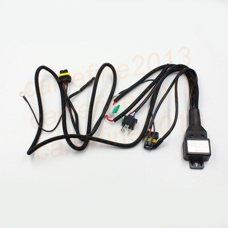 Rockeybright H4 9003 HB2 bi-xenon controller Relay H13 hid cable H4 9004 9007 Headlight Retrofit connect hid bixenon projector
