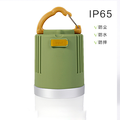nova carga a prova d agua lampada conduziu a lampada da barraca de acampamento ao